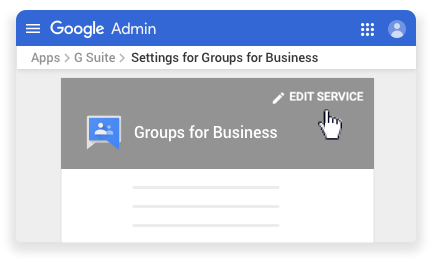 Edit the Groups for Business service