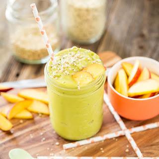 Mango Peach Green Tea Smoothie.