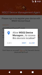 WSO2 Device Management Agent- screenshot thumbnail