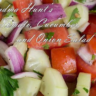 Grandma Hunt'S Tomato, Cucumber, & Onion Salad Recipe