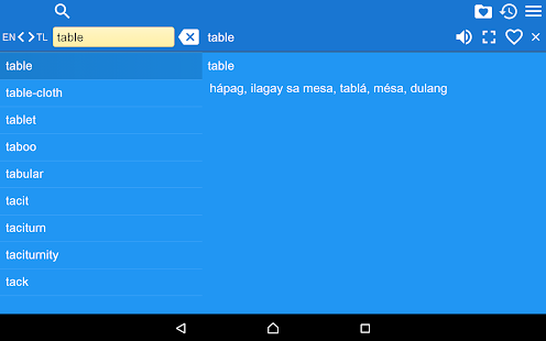 English Tagalog Dictionary Fr- screenshot thumbnail