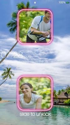 Couple Photo Keypad LockScreen - screenshot