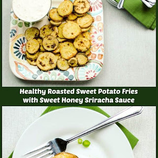 Roasted Sweet Potato Fries with Honey Sriracha Sauce Recipe
