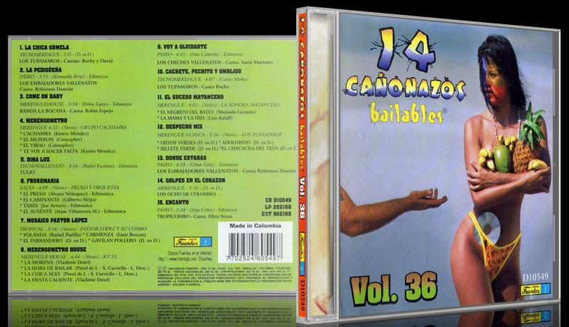 Varios Artistas - 14 Cañonazos Bailables Vol. 36 (1996) [MP3 @320 Kbps]