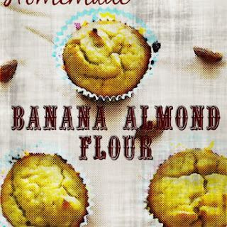 Homemade Banana Almond Flour Muffins