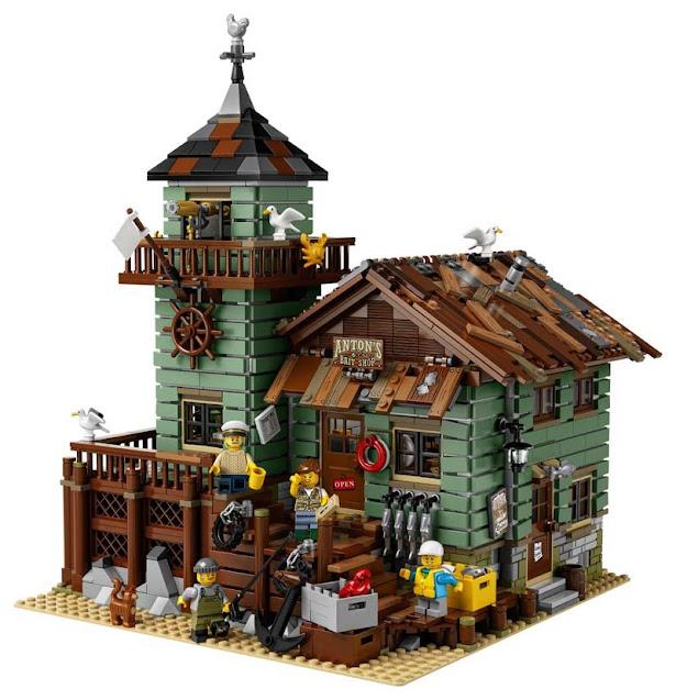 Contenido de Lego® 21310 Antigua Tienda de Pesca