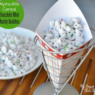Alpha-Bits Cereal Chocolate Mint Muddy Buddies