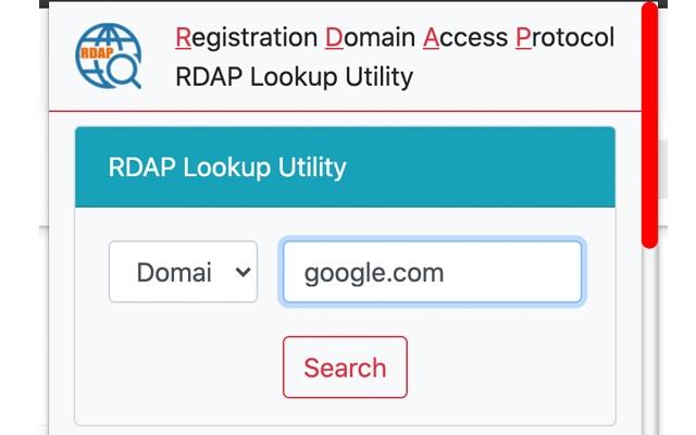 RDAP Lookup Utility