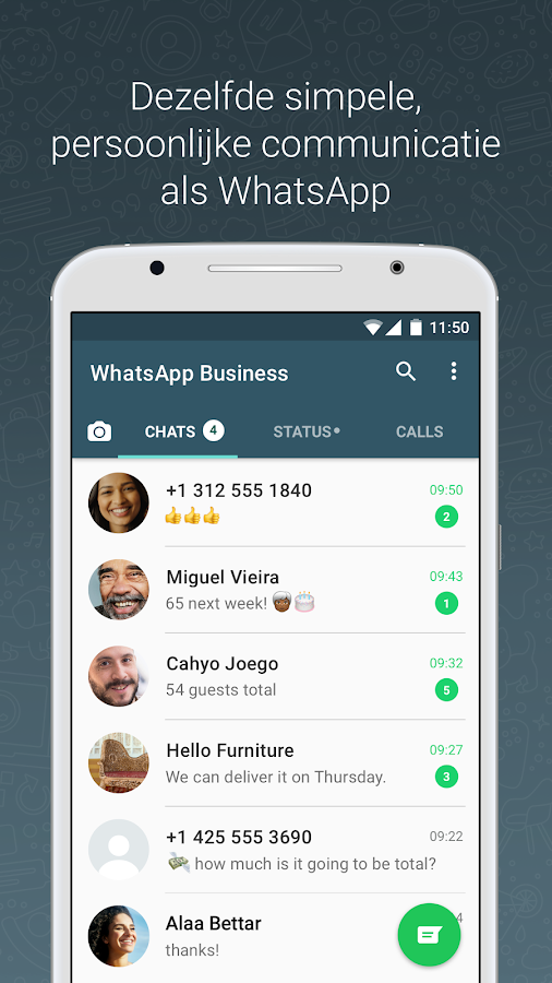 WhatsApp Business: screenshot