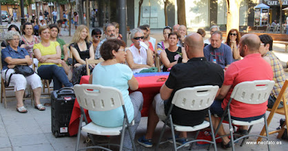 Photo: 28J Huesca. 26.06.2015 Charla de Somos LGTBI+ y Elaios.