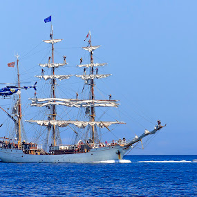 Tall Ship Arrive in South Australia by Ms Lyons Photography - Transportation Boats ( helicopter, old, new, police, blue, blue water, coastal guard,  )