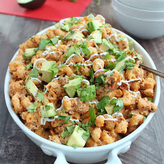 Slow Cooker Taco Mac and Cheese.