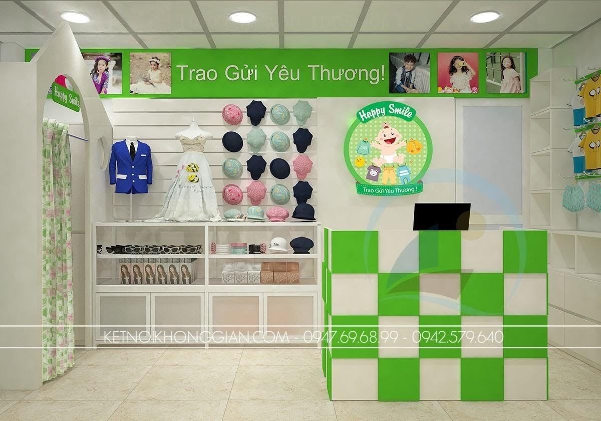 thiết kế shop thời trang trẻ em thông minh