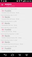 Screenshot of Golf score management Golfine