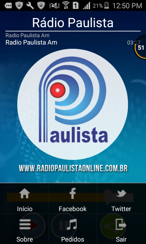 Rádio Paulista Online- screenshot