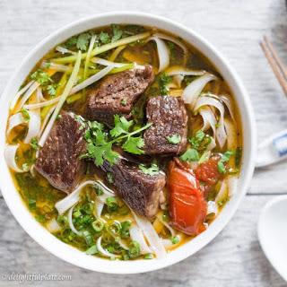 Vietnamese Beef Stew Pho Noodle Soup (Pho Bo Sot Vang) Recipe