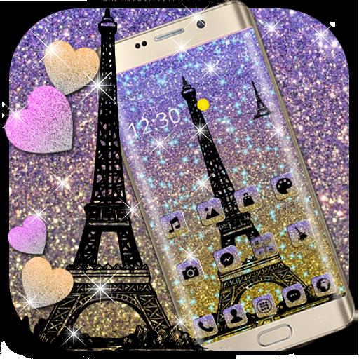 Eiffel Tower Shiny Glitter Theme Applications Sur Google Play