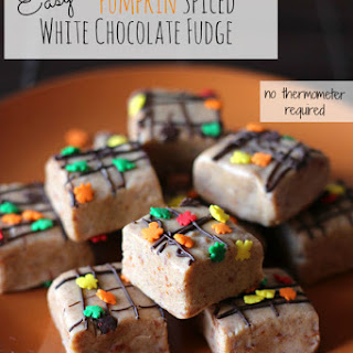 Easy Pumpkin Spiced Fudge