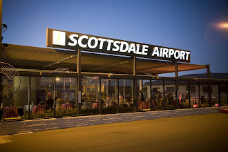 Photo: Welcome to the Scottsdale Airport where Taylor's Restaurant was the site of our birthday shindig.