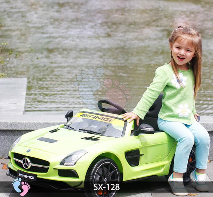 Xe hơi điện trẻ em SX-128 ghế da 8