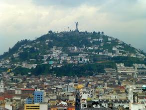 Photo: Nearer view of Panecillo.  Virgin statue is a Quito landmark.