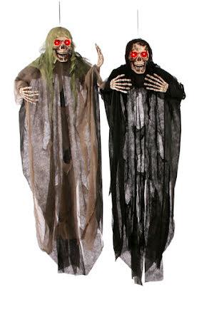 Hängande Reaper grön/svart med ljus