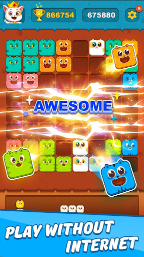 Block Crushu2122 - Cute Kitty Puzzle Game android2mod screenshots 3