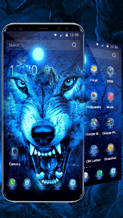 3d Ice Wolf Theme Android Aplicaciones Appagg