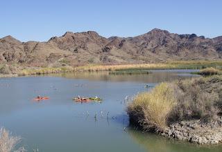 Photo: Afloat at Island Lake.