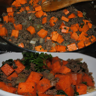 Beef and Sweet Potato Hash from Harvest Your Health