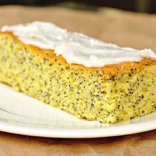 Lemon Poppy-Seed Cake with Zesty Lime Icing.