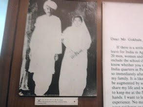 Photo: ghandi with his wife