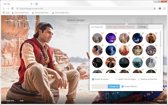 Aladdin Wallpapers HD New Tab - freeaddon.com