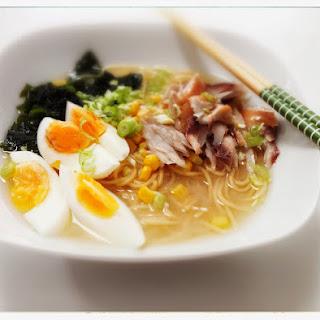 Miso Ramen Noodles with Smoked Mackerel