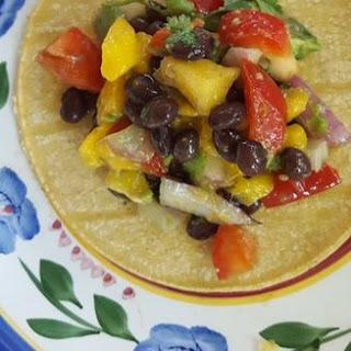 Mango and Black Bean Tacos.