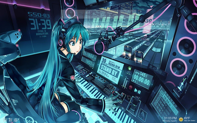 Hatsune Miku VOCALOID HD Themes New Tab