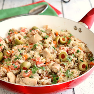 Skillet Caribbean Chicken with Rice.