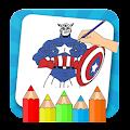 SuperHero Coloring Book : Kids Drawing Game 2018