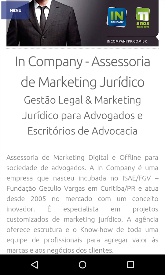 Marketing Jurídico: captura de tela