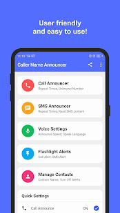 Caller Name Announcer with Flash Alerts for PC-Windows 7,8,10 and Mac apk screenshot 2