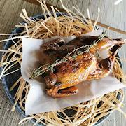 Smoked Cornish Hen With Frites
