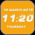 Snow digital clock icon