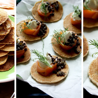Russian Style Mini Buckwheat Pancakes