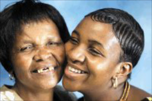 PEACE REIGNS: Grace Maubane and her 'friend' and daugher-in -law Zimasa. Pic. Antonio Muchave. 16/01/2007. © Sowetan.