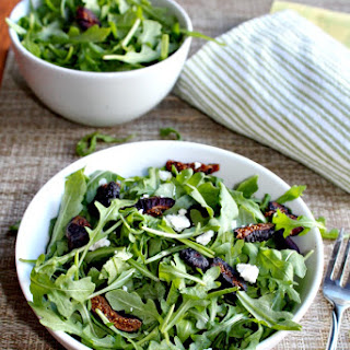 Arugula and Fig Salad with Goat Cheese