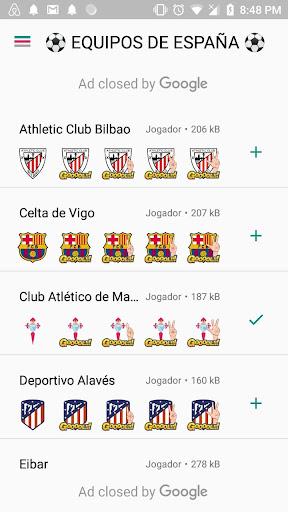 Stickers equipos de futbol español WAStickersApps screenshot 2
