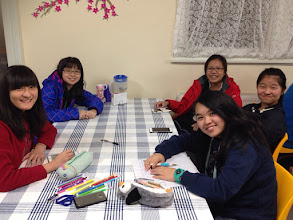 Photo: Day 10: Evening activity - Making Thank You Cards