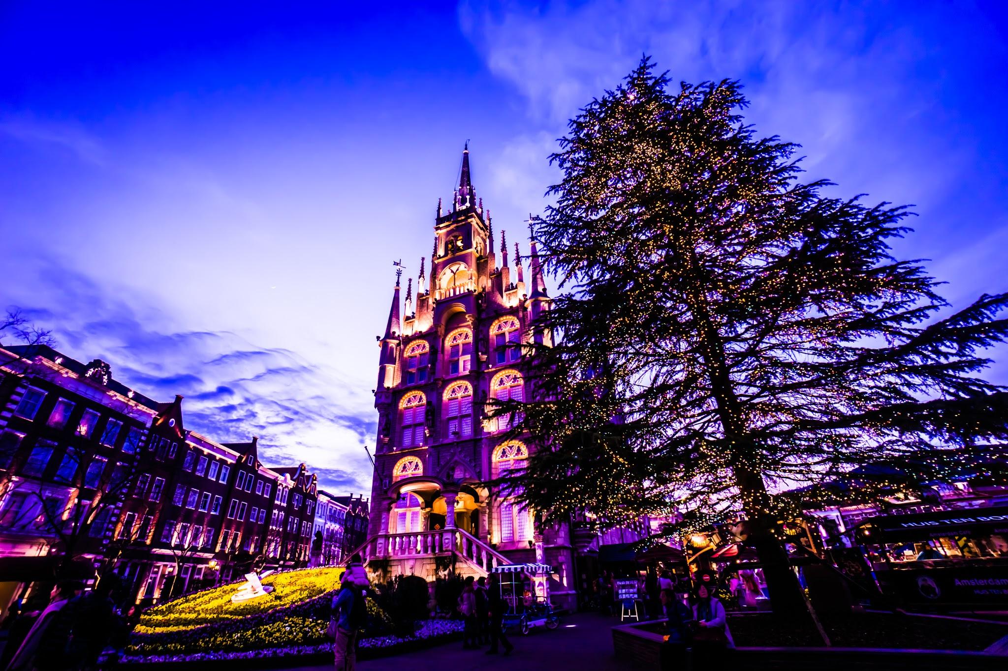ハウステンボス イルミネーション 光の王国 アムステルダムシティ1