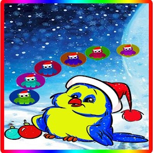 Bubble Shooter BIrd Christmas