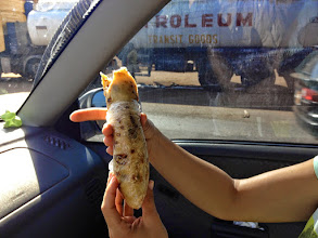 Photo: This is a Rolex. The most popular street food in Uganda. Egg omelet with veggies wrapped in a chapatti.